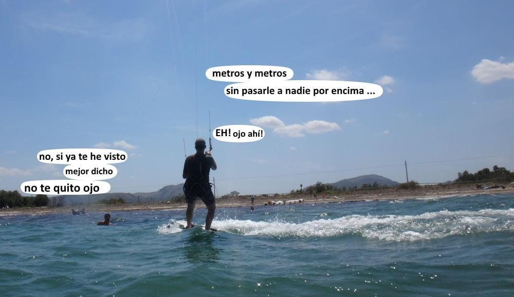 29 playas para kitesurfing en Mallorca - en direccion a Sa marina