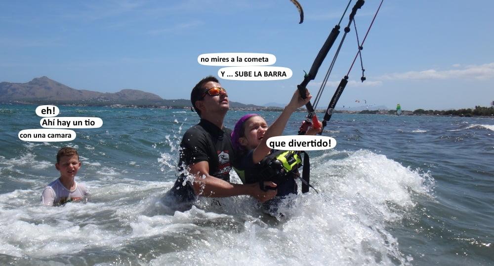 4 - curso de kitesurfing para niños mallorca kiteschool