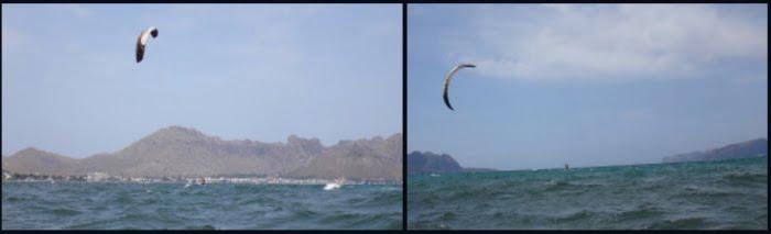4 viento suave kitesurf en Mallorca y Pollensa