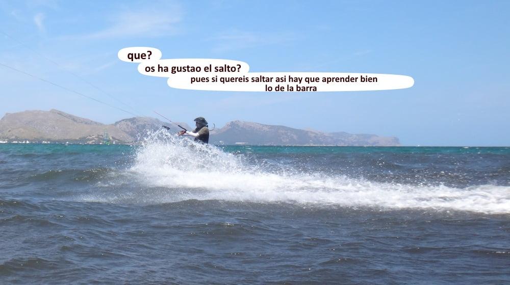 43 playas para kitesurfing en Mallorca - pasando ante la camara