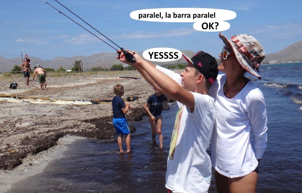 46 playas para kitesurfing en Mallorca clases de kite con niños
