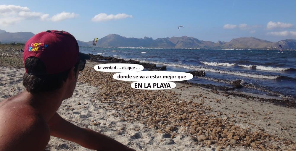 49 playas para kitesurfing en Mallorca la playa a 100 mts del Pollentia hotel es nuestro kite spot