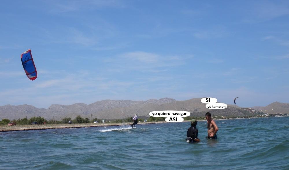 6 playas para kitesurfing en Mallorca bahia de Pollensa