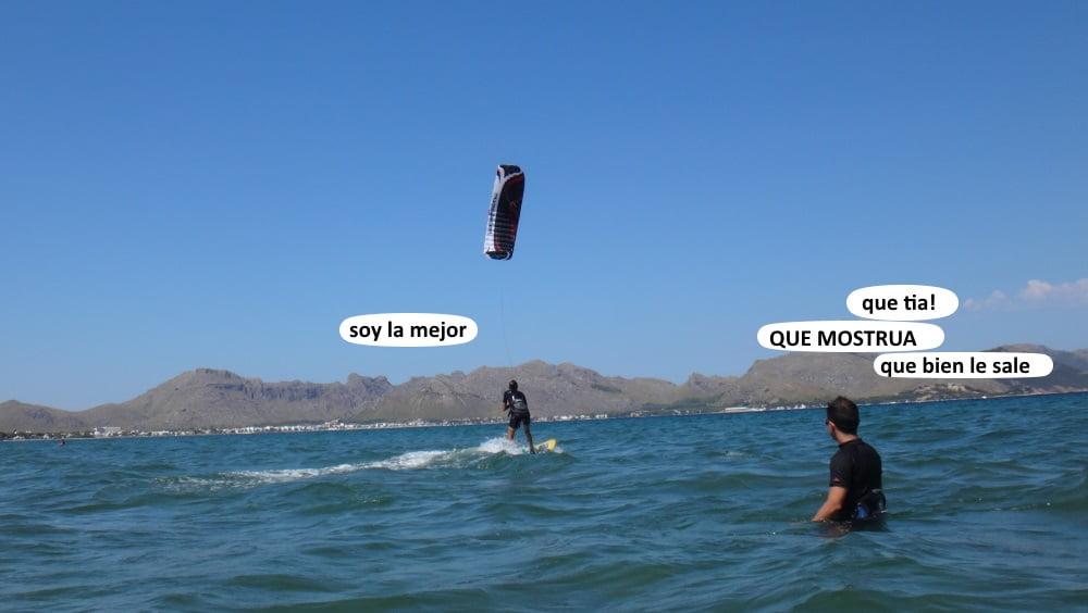 8 ceñir kite Mallorca escuela aprender Pollensa