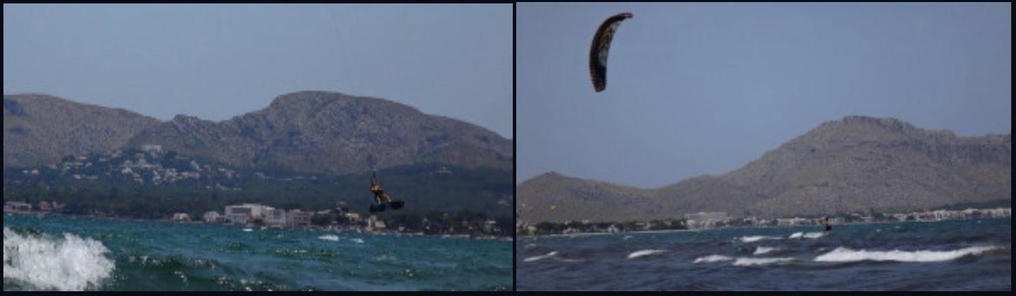 9 puerto pollensa kitesurf con viento sur