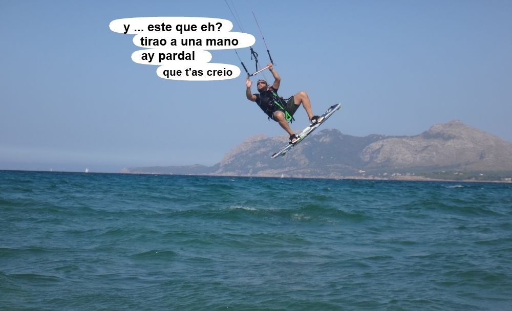 15 kitesurf en Mallorca - cursos en Pollensa con Josep