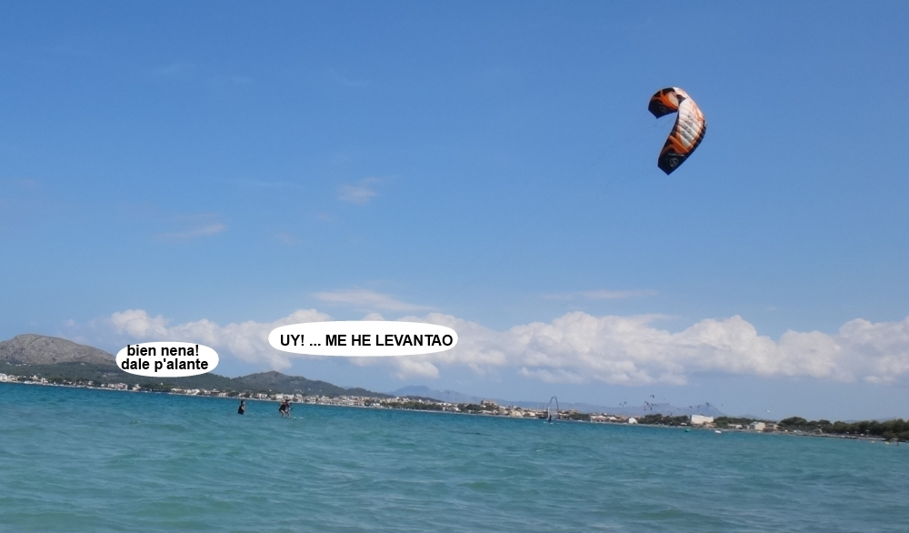 1 cursos de kitesurfing en Mallorca playa del Pollentia Club
