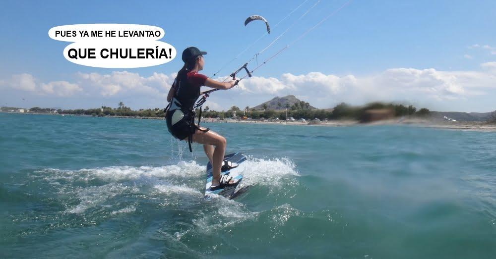 10 cursos de kitesurfing en Mallorca avanzando metros y metros