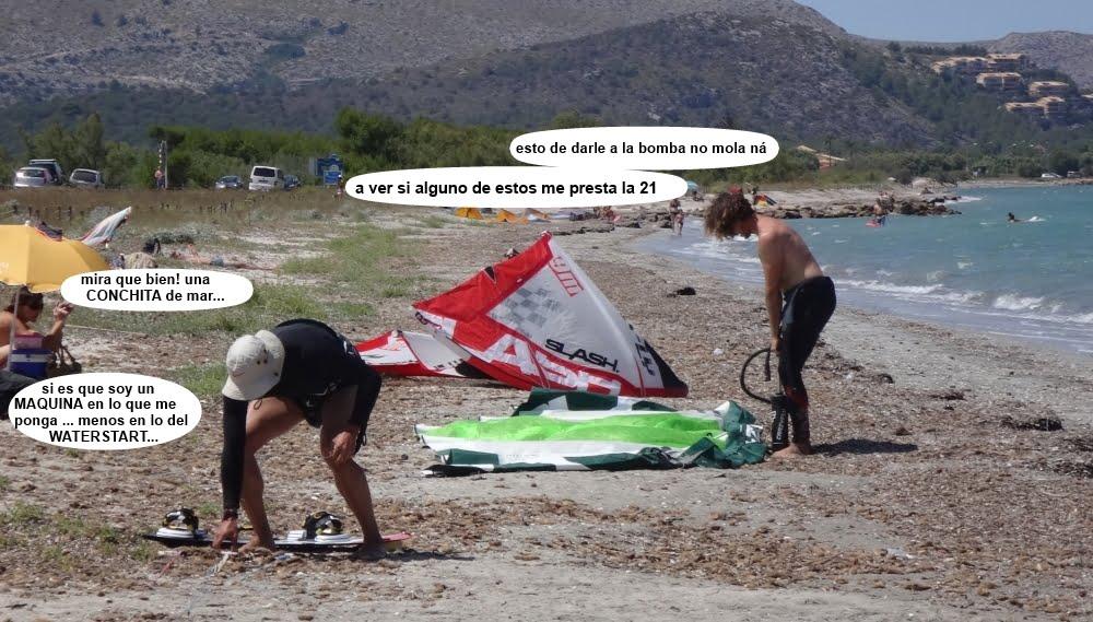 11 cursos de kitesurf en Mallorca jolgorio general