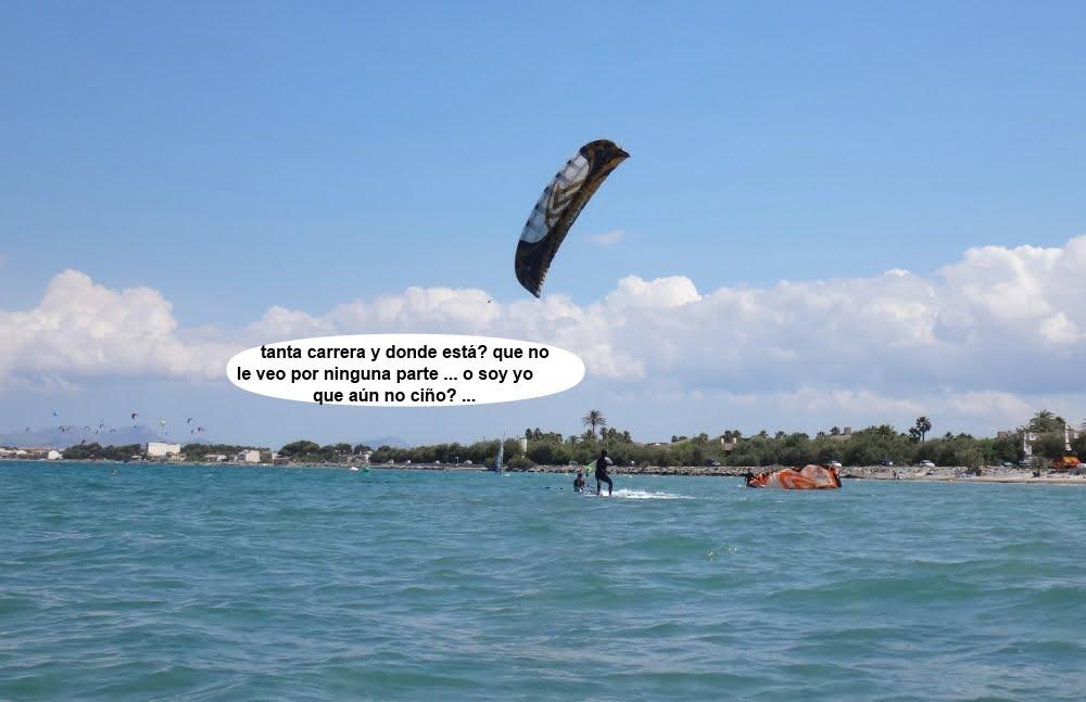 6 cursos de kitesurfing en Mallorca playa de Sa Marina