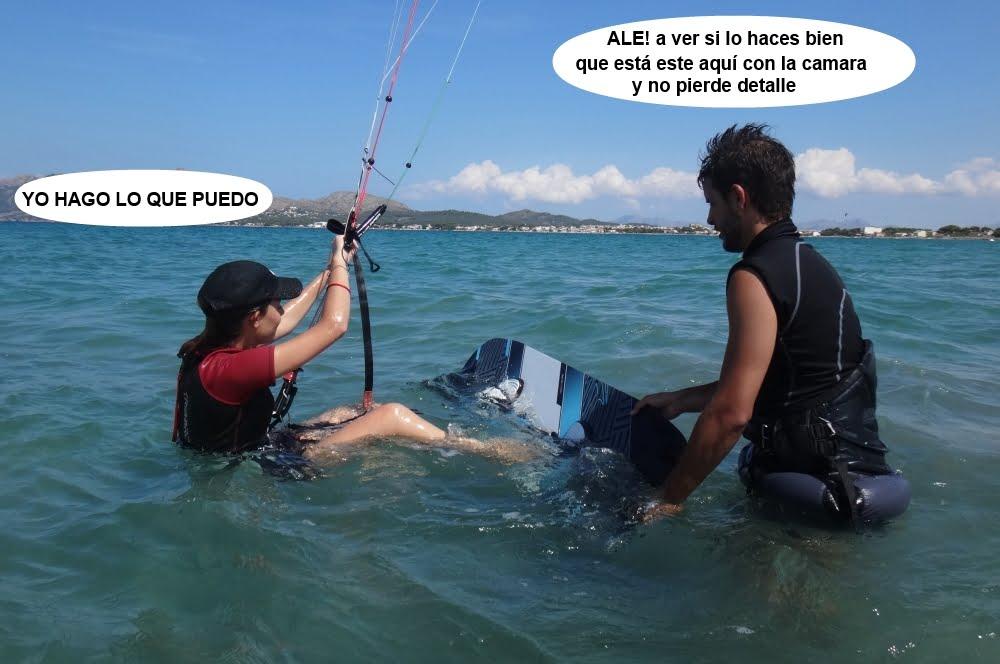 8 cursos de kitesurfing en Mallorca alumnos escuela de kite